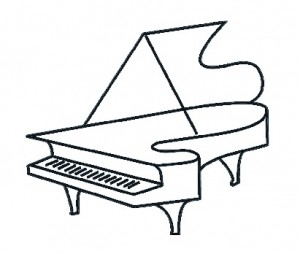 piano on white