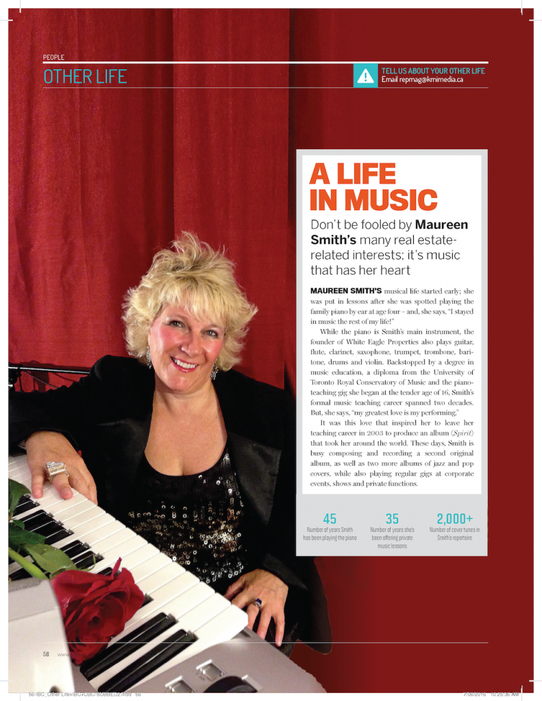 Maureen Smith, featured with an article on her music